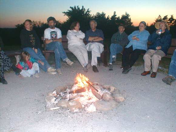 Around the campfire at our weekend retreat to Cedar Glen
