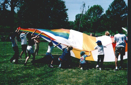 Parachutes, balloons and drama can be part of our services.